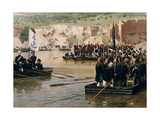 The Russians Crossing the Danube at Svishtov in Juny 1877, 1870S Giclee Print by Nikolai Dmitrievich Dmitriev-Orenburgsky