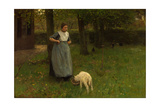 Woman from Laren with Lamb, 1885 Giclee Print by Anton Mauve