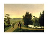 Landscape with Hunters Giclee Print