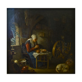 The Prayer of the Spinner, 1645 Giclee Print by Gerard Dou