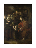 Christ Blessing the Children, 1652 Giclee Print by Nicolaes Maes