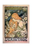 L'Ermitage, Revue Illustrée, Poster, 1897 Gicléetryck av Paul Berthon