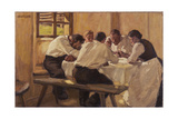 Lunch (The Soup, Version I), 1910 Giclee Print by Albin Egger-lienz