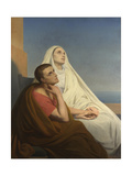 Saints Augustine and Monica, 1854 Giclee Print by Ary Scheffer