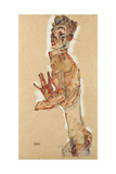 Self-Portrait with Splayed Fingers, 1911 Giclee Print by Egon Schiele