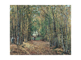 The Woods at Marly, 1871 Stampa giclée di Camille Pissarro
