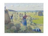 The Haymaking, Éragny, 1887 Reproduction procédé giclée par Camille Pissarro