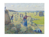 The Haymaking, Éragny, 1887 Giclee Print by Camille Pissarro