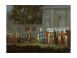 First Walk to Boys School, 1737 Giclee Print by Jean-Baptiste Vanmour