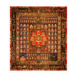 Garbhadhatu Mandala, 8th-9th Century Wydruk giclee