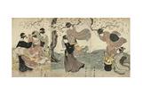 Flowers in the Wind, C. 1797-1800 Giclee Print by Utagawa Toyokuni