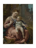The Madonna of the Basket, Ca 1524 Giclee Print by  Correggio
