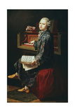 Young Musician at the Harpsicord Giclee Print