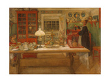Getting Ready for a Game, 1901 Giclée-tryk af Carl Larsson