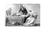 Lord Melbourne (1779-184) Instructing a Young Queen Victoria 1819-190), 1837 Giclee Print