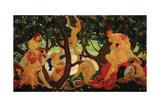 Gathering Apples, 1917 Giclee Print by Valentin Alexandrovich Yakovlev