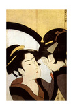 A Beauty before the Mirror, C1793 Giclee Print by Kitagawa Utamaro