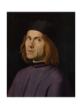 Portrait of Battista Fiera, C.1508 Giclee Print by Lorenzo Costa