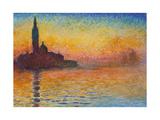 San Giorgio Maggiore at Dusk, 1908 Giclee Print by Claude Monet