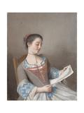 A Girl Reading (La Liseus), 1746 Giclee Print by Jean-Étienne Liotard