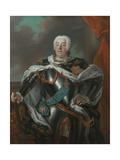 Portrait of Augustus III of Poland Giclee Print by Louis de Silvestre