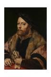 A Man Holding a Glove, Ca 1532 Giclee Print by Jan Gossaert