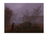 A Walk at Dusk, 1830-1835 Gicléedruk van Caspar David Friedrich