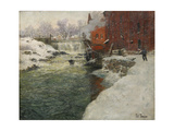 Canvas Factory by the Aker River (Kristiani), C. 1890 Giclee Print by Fritz Thaulov