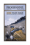 Programme for the 200 Miles Race, Brooklands, 1925 Giclee Print
