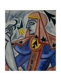 Queen of Spades, 1913-1914 Giclee Print by Olga Vladimirovna Rozanova