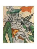 Jack of Hearts, 1913-1914 Giclée-trykk av Olga Vladimirovna Rozanova