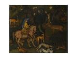 The Vision of Saint Eustace, C. 1440 Giclée-tryk af Antonio Pisanello