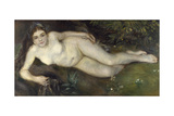 A Nymph by a Stream, 1869-1870 Giclee Print by Pierre-Auguste Renoir