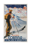 Cortina Dolomiti, 1930 Gicleetryck