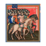 Band of Crusaders Armed and Mounted, 15th Century Giclee Print