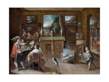 A Visit to the Art Dealer Giclee Print by Frans Francken the Younger