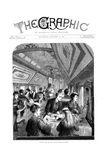 Dining Car on the Union Pacific Railroad, USA, 1870 Giclee Print