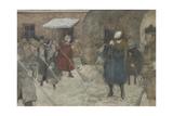Snow Removal, Ca 1921 Giclee Print by Alexander Ivanovich Vakhrameyev