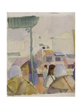 Market in Tunis II, 1914 Giclee Print by August Macke