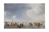 Winter Scene on the Ice Giclee Print by Jan Josefsz van Goyen