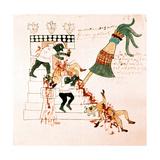 Aztec Temple Sacrifice Giclee Print