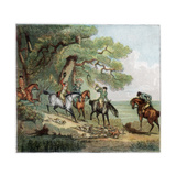 The Kill, Fox Hunting, 1787 Giclee Print by Thomas Rowlandson
