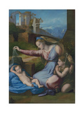 Madonna with the Blue Diadem, C. 1510 Giclee Print by  Raphael