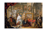 Studio of the Painter Giclee Print by Johann Georg Platzer