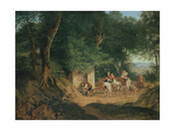 The Well in the Wood at Ariccia, 1831 Giclee Print by Gustav Richter