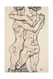 Naked Girls Embracing, 1914 Giclee Print by Egon Schiele