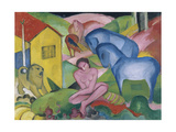 The Dream, 1912 Giclee Print by Franz Marc