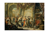 Croesus and Solon Giclee Print by Johann Georg Platzer