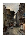 A Street in Landerneau, 1851 Giclee Print by Johan Barthold Jongkind