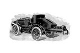 Renard's Tractor Unit, Showing Towing Attachment for Trailers, French, 1904 Giclee Print